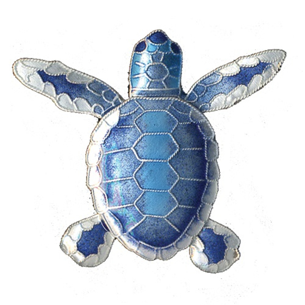 Blue Flatback Hatchling Turtle Cloisonne Pin   Bamboo Jewelry   BJ0074p