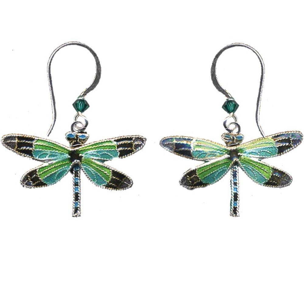 Radiant Gossamer Wing Dragonfly Wire Earrings | Bamboo Jewelry | BJ0076E -2