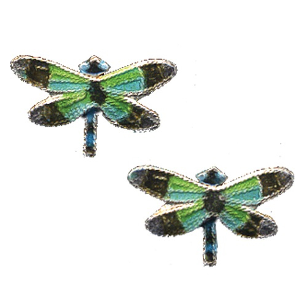 Radiant Gossamer Wing Dragonfly Cloisonne Post Earrings | Bamboo Jewelry | bj0076pe -2