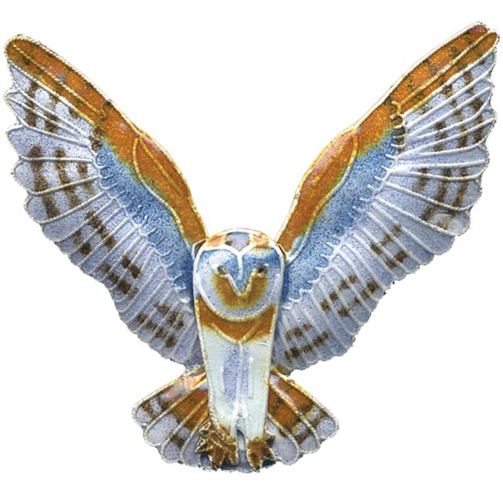 Barn Owl Cloisonne Pin | Bamboo Jewelry | bj0095p