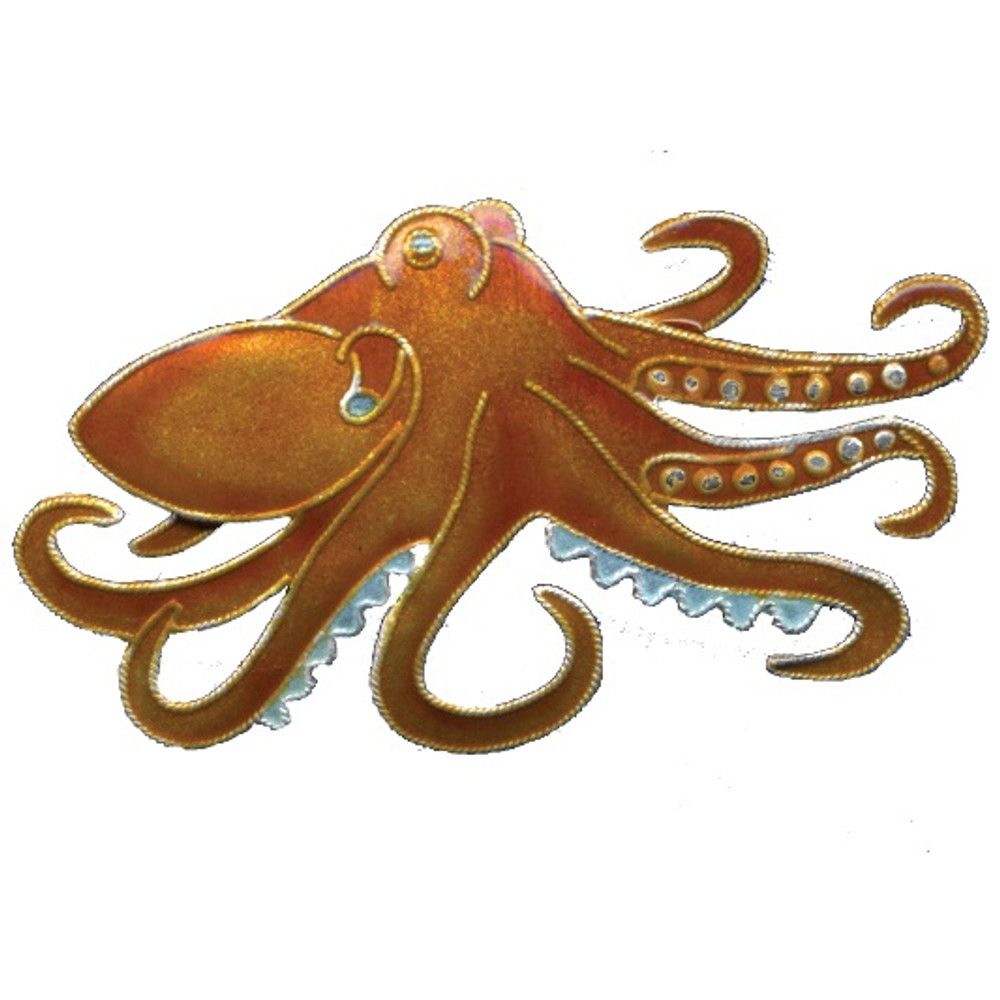 Octopus Cloisonne Pin | Bamboo Jewelry | bj0215p