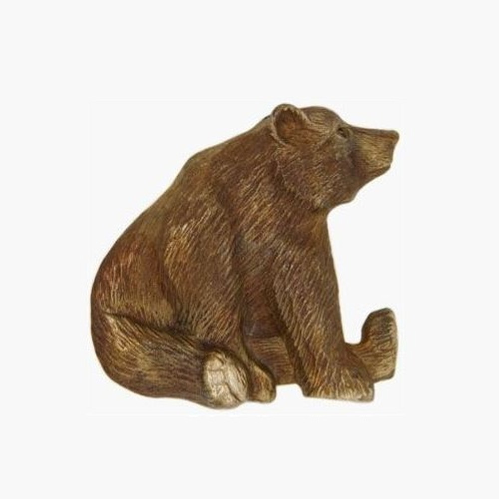 Sitting Grizzly Bear Bronze Pin | Cavin Richie Jewelry | DMOKB108-PIN