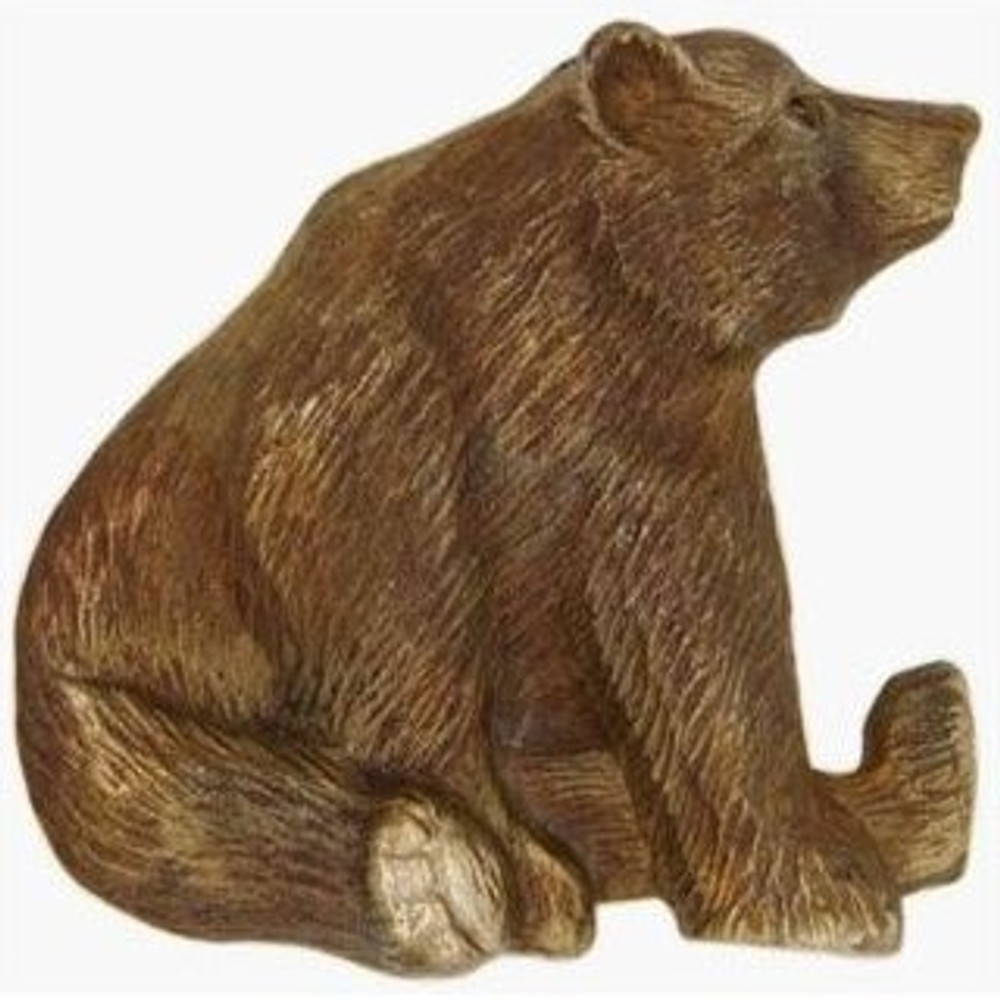 Sitting Grizzly Bear Bronze Pin | Cavin Richie Jewelry | DMOKB108-PIN -2