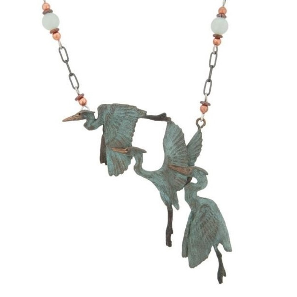 Heron Triplet Beaded Necklace | Cavin Richie Jewelry | DMOKB-174-6BN