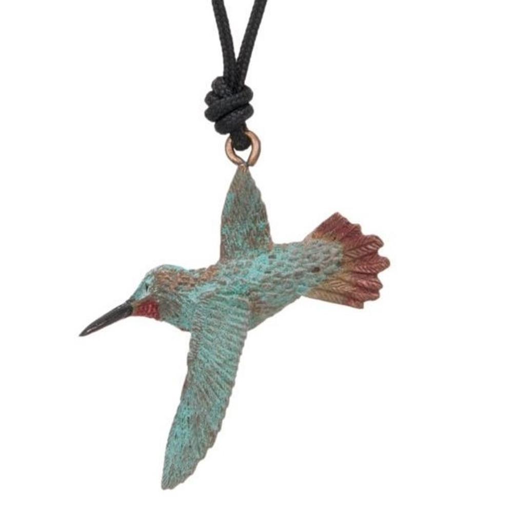 Hummingbird Rufous Pendant Necklace | Cavin Richie Jewelry | DMOKB-239-PEND