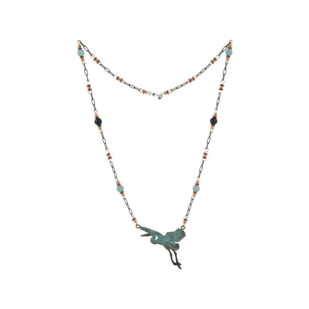 Heron Bronze Beaded Necklace | Cavin Richie Jewelry | DMOKB260-6BN
