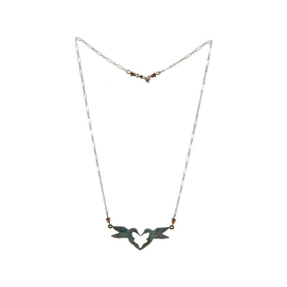 Hummingbird Heart Necklace | Cavin Richie Jewelry | KB336-SSC