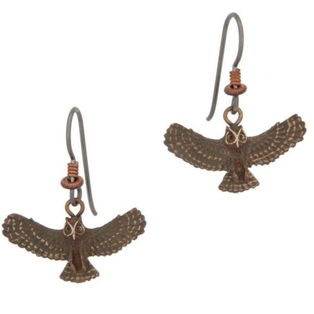 Great Horned Owl Wire Earrings | Cavin Richie Jewelry | DMOKB71FH