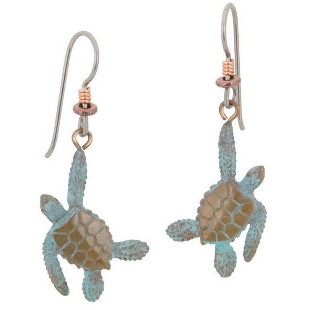 Sea Turtle Bronze Earrings | Cavin Richie Jewelry | DMOKBE23-FH