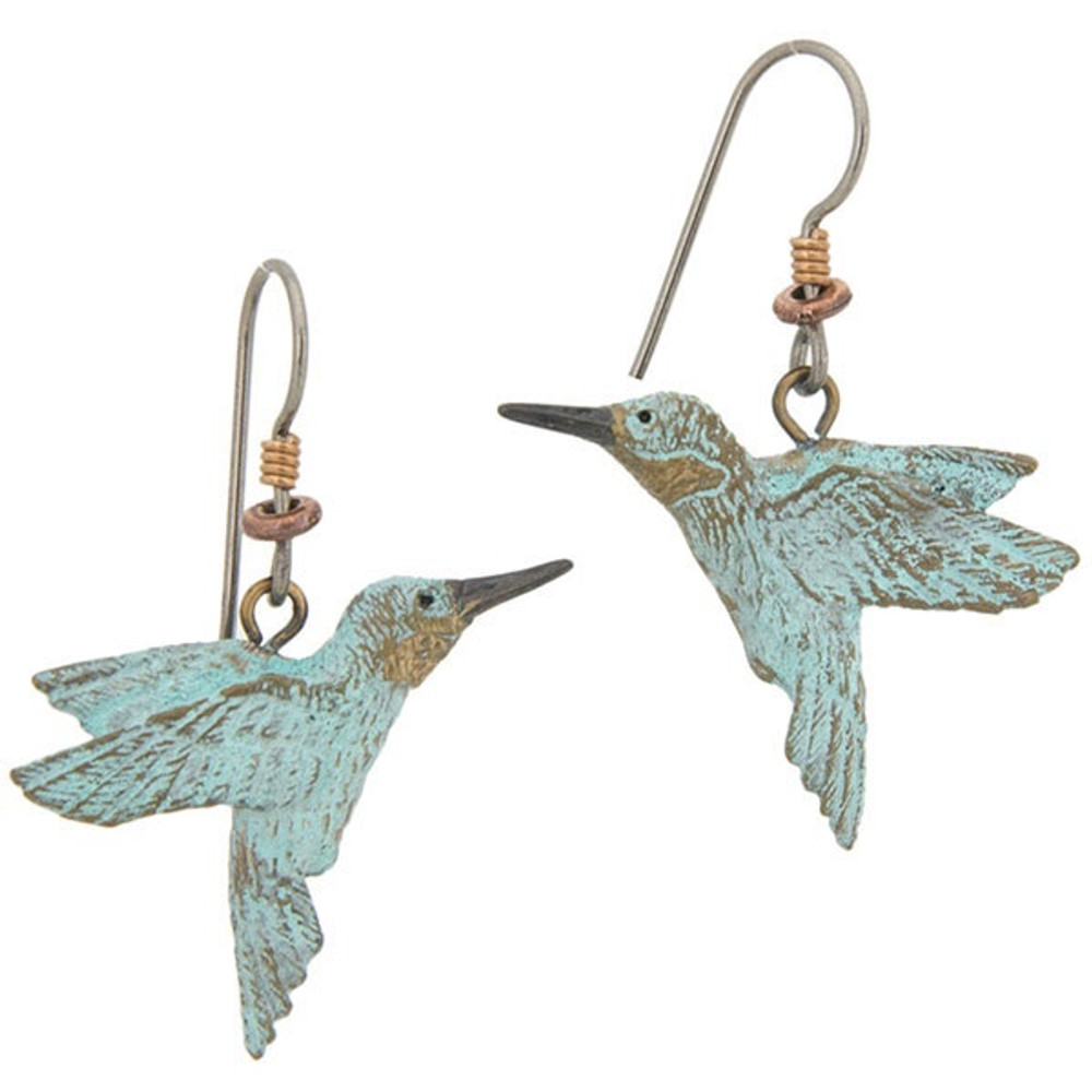 Hummingbird Wire Earrings | Cavin Richie Jewelry | DMOKBE-3-FH