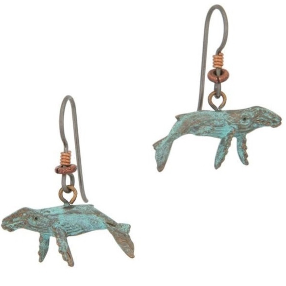Humpback Whale Earrings   Cavin Richie Jewelry   DMOKBE-77-FH