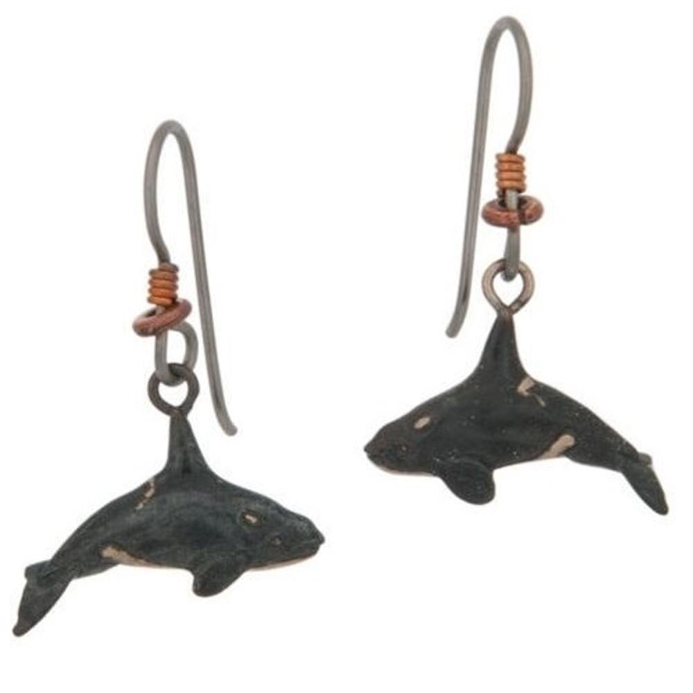 Orca Bronze Earrings | Cavin Richie Jewelry | DMOKBE-57-FH