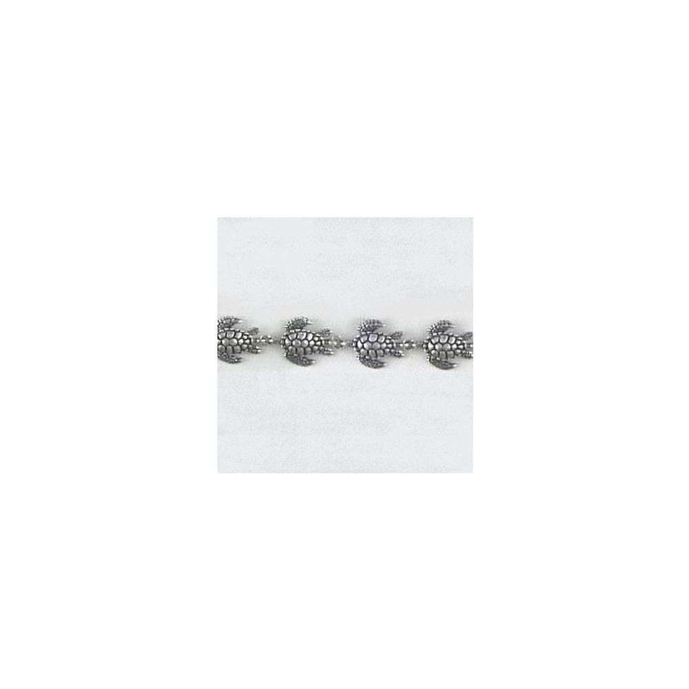 Sea Turtle Sterling Silver  Link Bracelet | Kabana Jewelry | kBR312