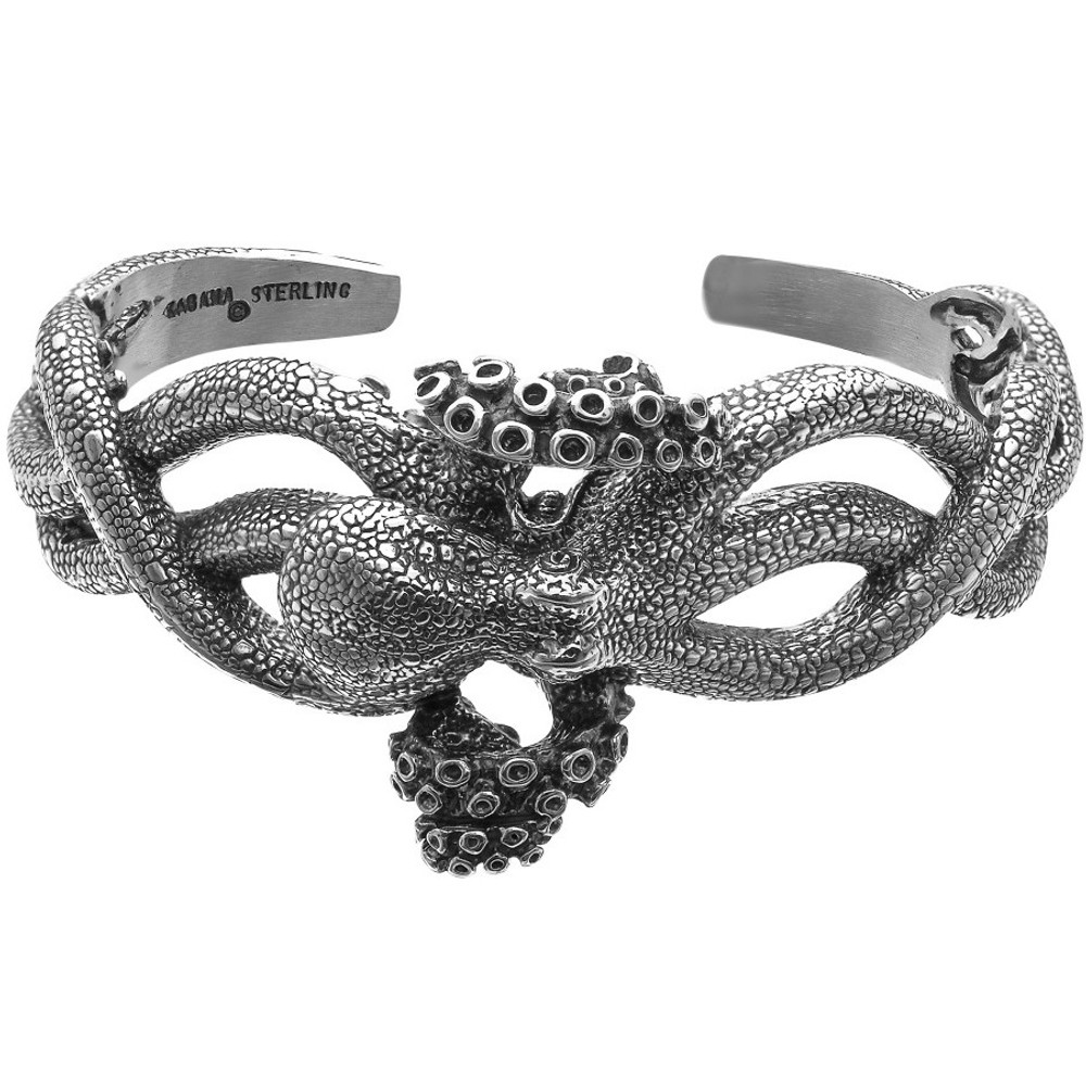 Octopus Sterling Silver Cuff Bracelet | Kabana Jewelry | Kbr321