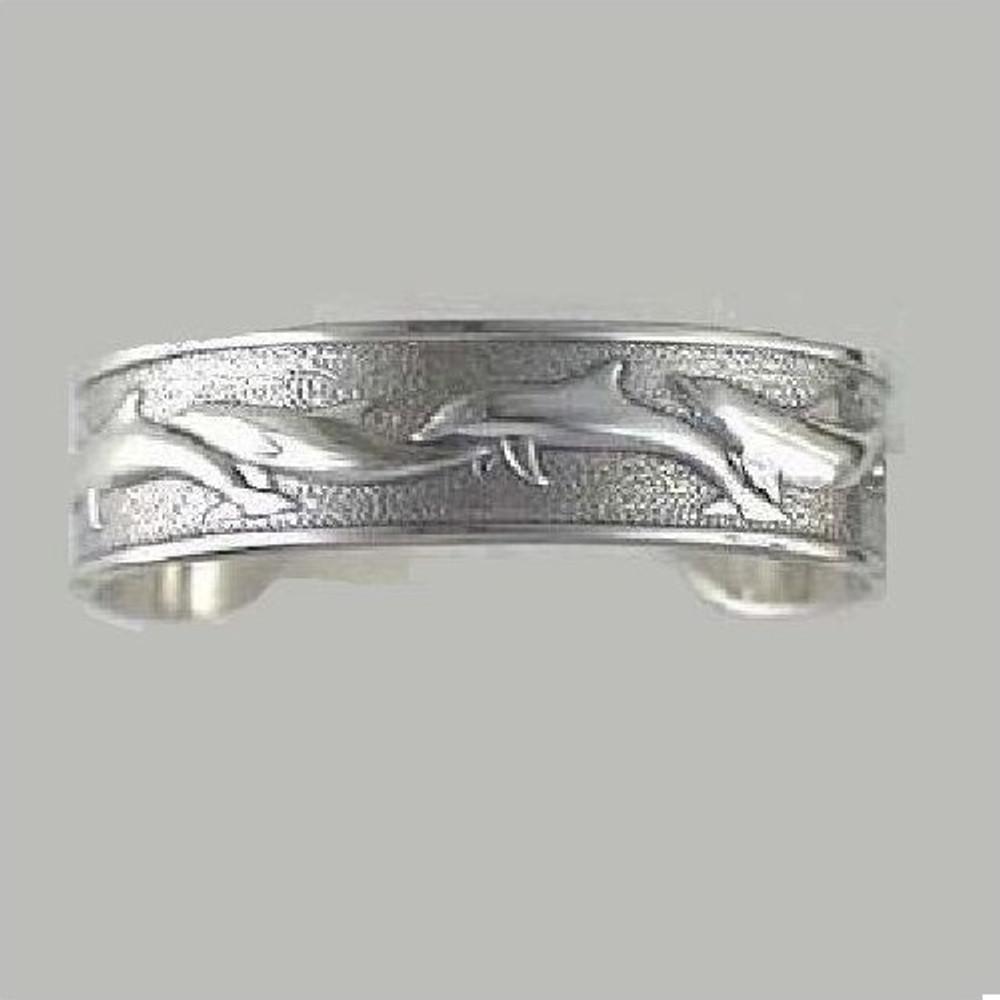Dolphin Sterling Silver Cuff Bracelet   Kabana Jewelry   Kbr470
