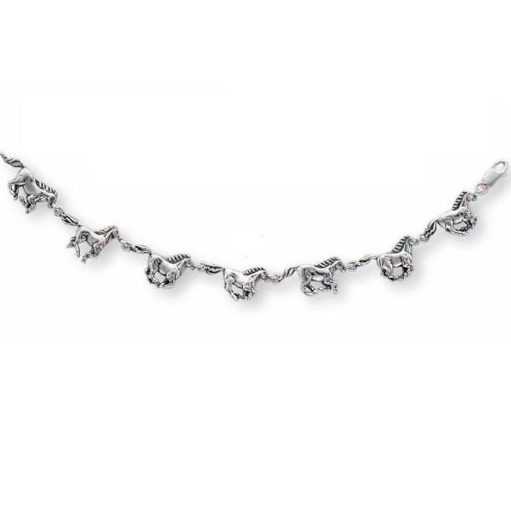 Horse Sterling Silver Charm Bracelet | Kabana Jewelry | Kbr494