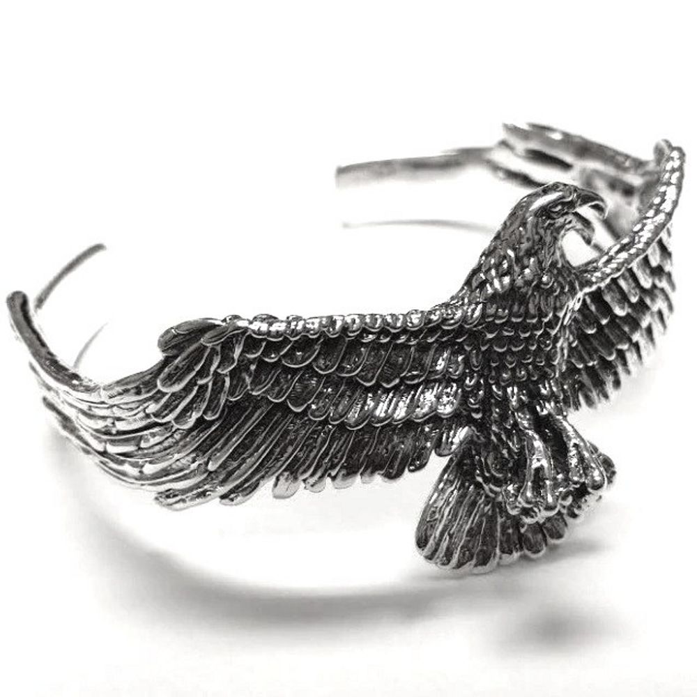Eagle Design Sterling Silver Cuff Bracelet | Kabana Jewelry | Kbr508