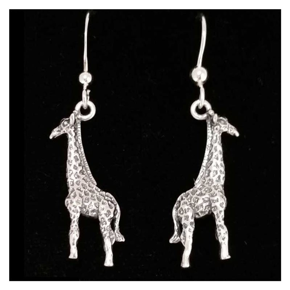 Giraffe Sterling Silver Wire Earrings | Kabana Jewelry | Ke046