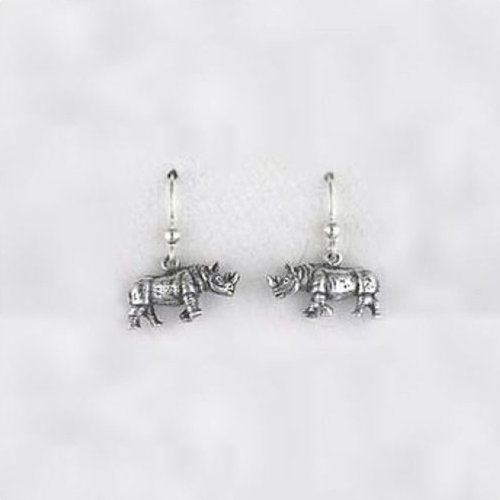Rhino Sterling Silver Wire Earrings | Kabana Jewelry | KE051