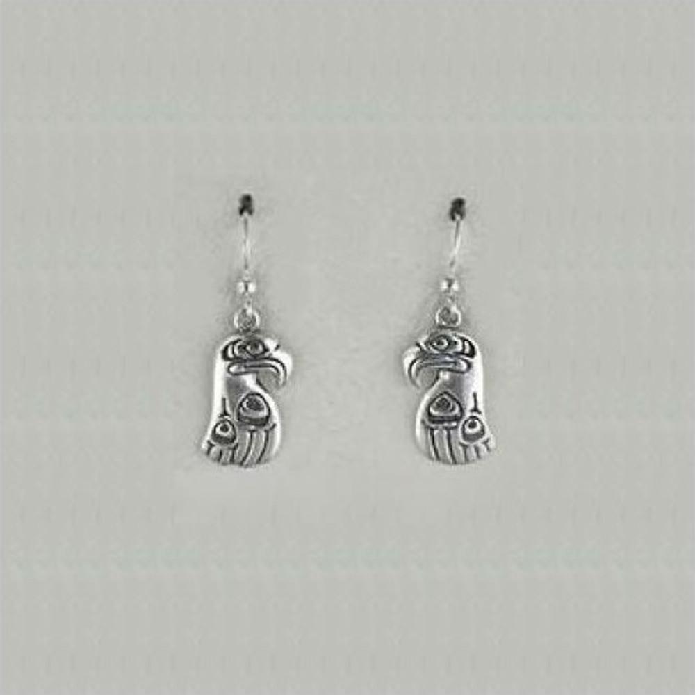Eagle Totem Sterling Silver Earrings | Kabana Jewelry | Ke290
