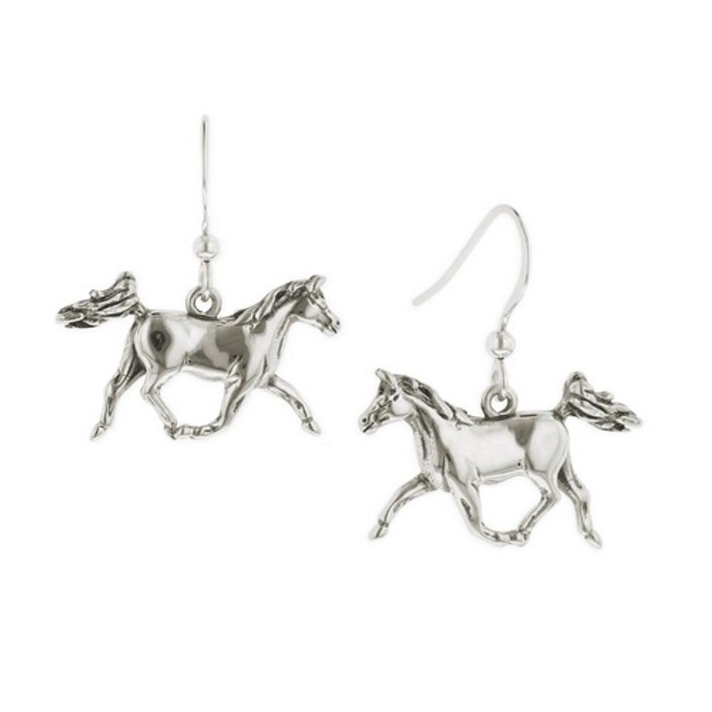 Prancing Horse Sterling Silver Wire Earrings | Kabana Jewelry | Ke624