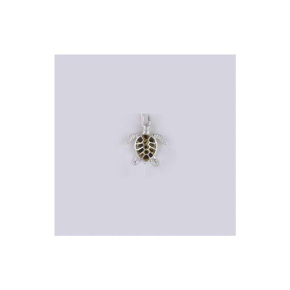 Sea Turtle Sterling Silver & Enamel Necklace | Kabana Jewelry | Kenp018