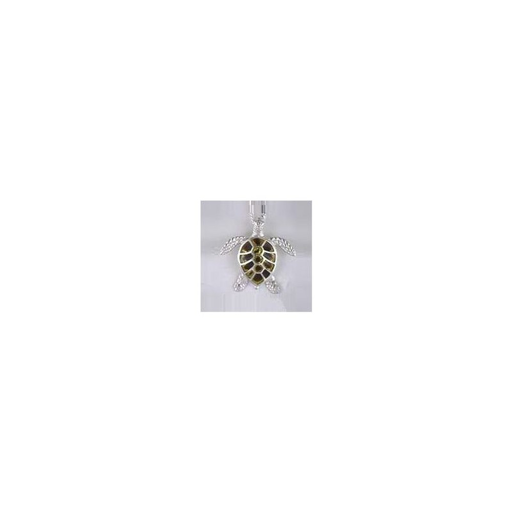Sea Turtle Sterling Silver & Enamel Necklace | Kabana Jewelry | Kenp018 -2