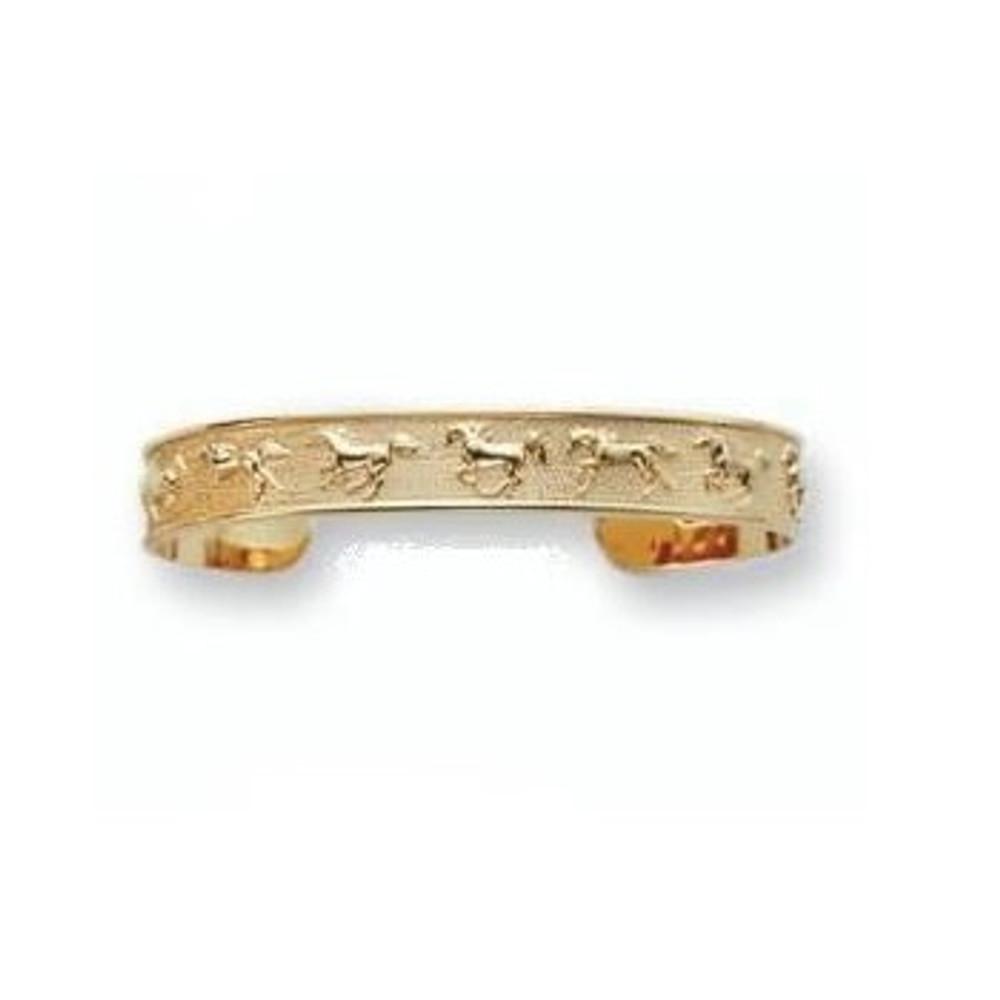 Horse Bracelet 14K Gold Cuff Bracelet | Kabana Jewelry | Kgbr380
