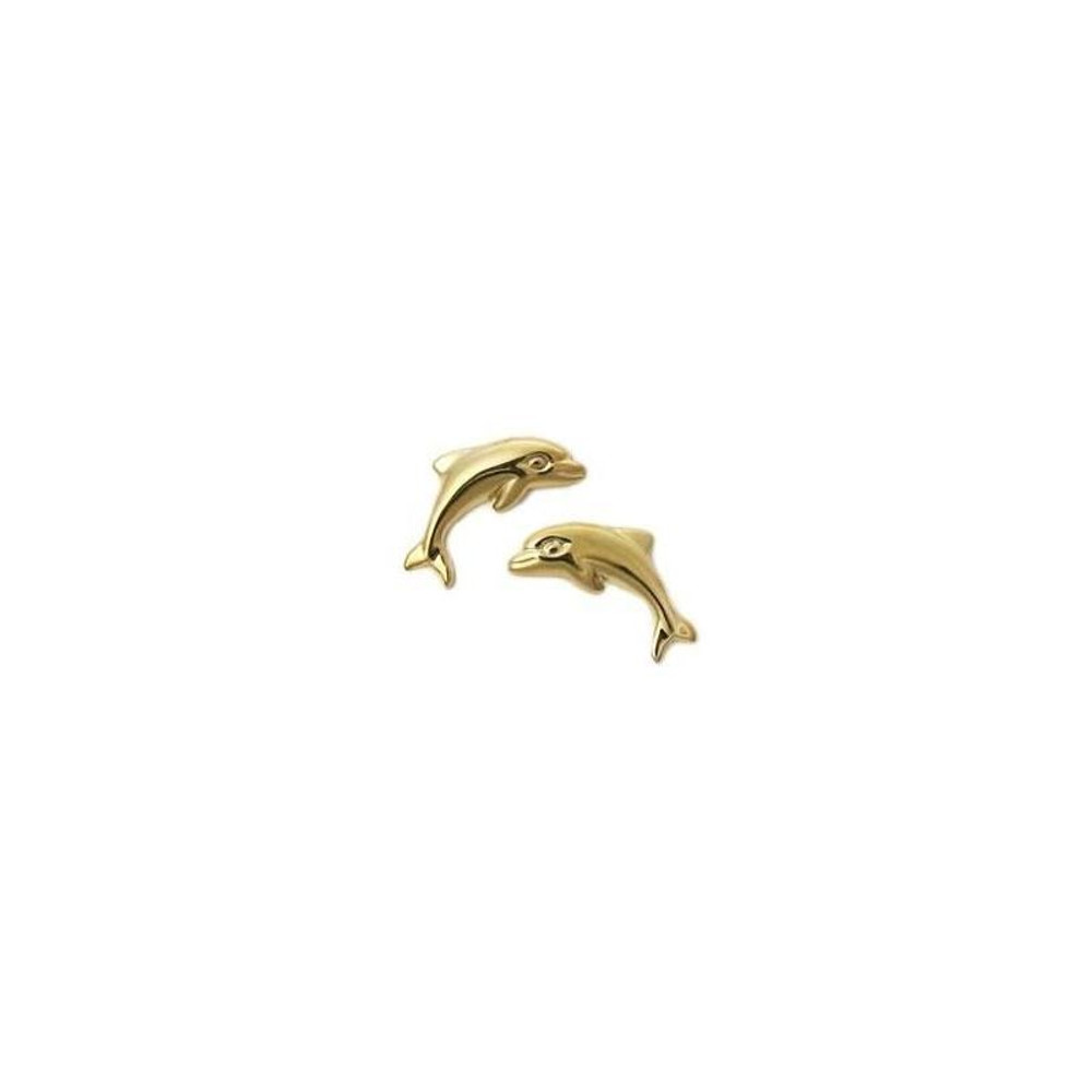 Dolphin 14K Gold Post Earrings | Kabana Jewelry | Kge370h