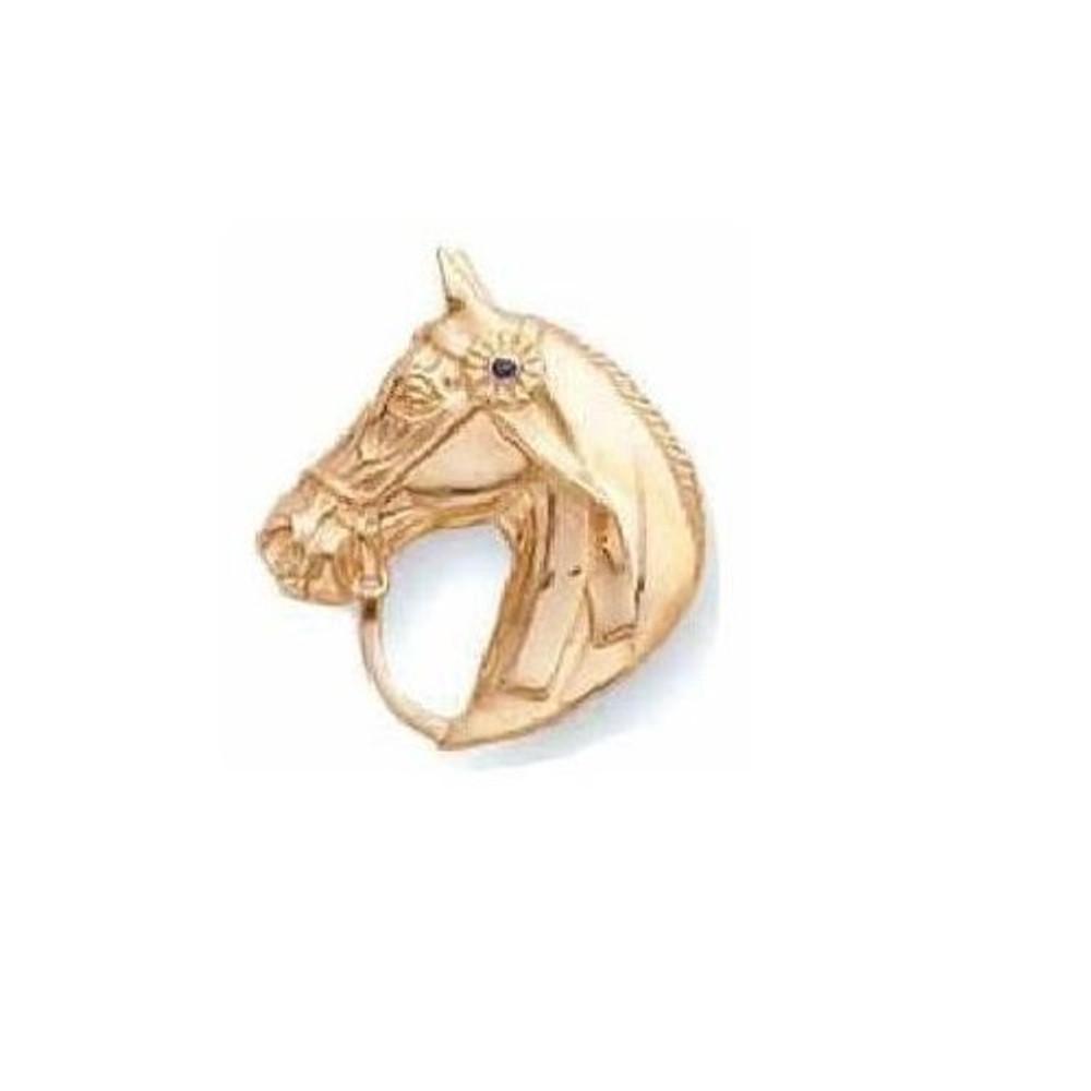 Horse Head 14K Gold Pin | Kabana Jewelry | Kgpf535S