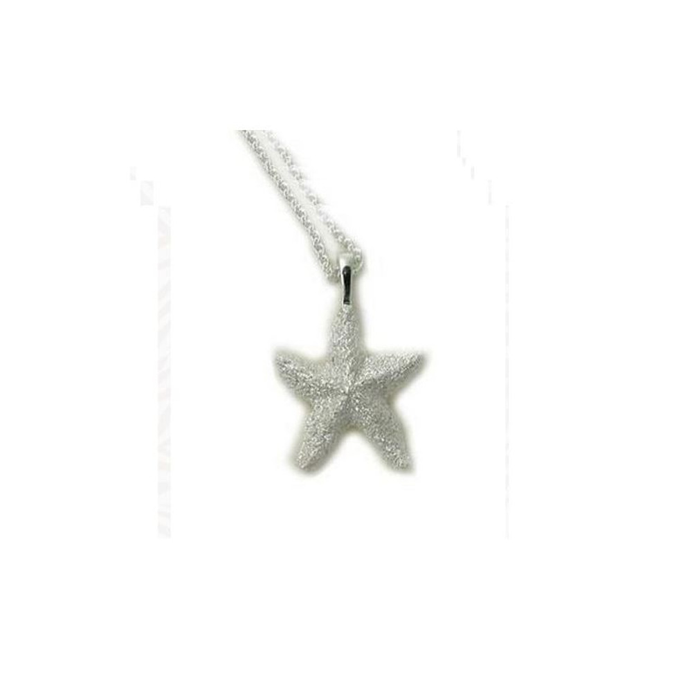 Starfish Pendant Sterling Silver Necklace   Kabana Jewelry   Kp169