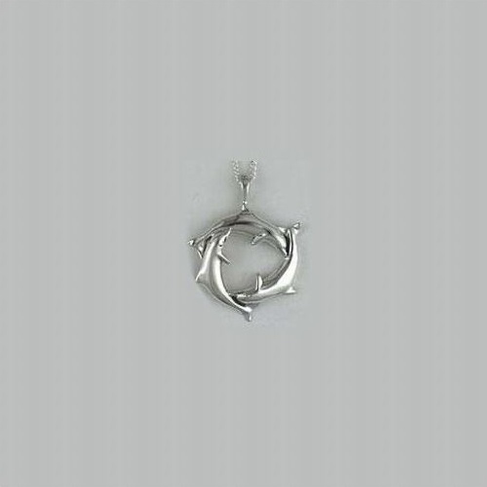 Dolphin Trio Sterling Silver Pendant Necklace| Kabana Jewelry | KP328