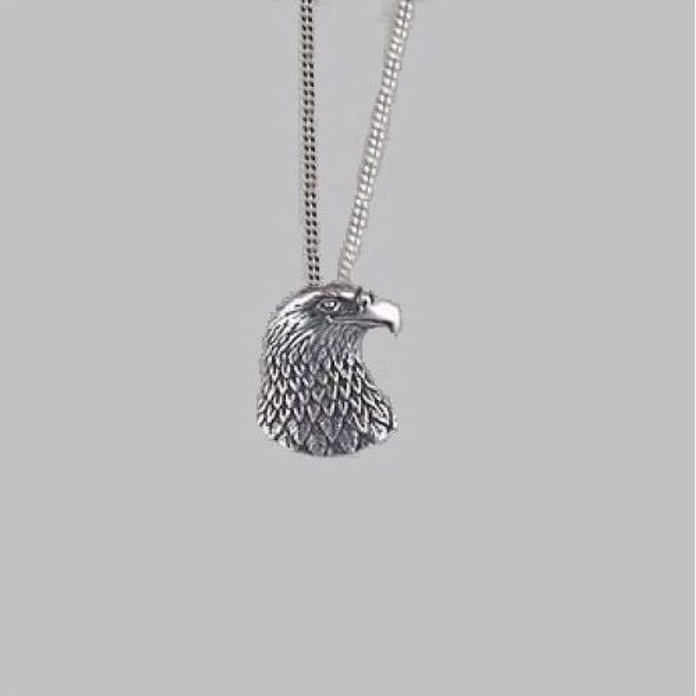 Eagle Head Pendant Sterling Silver Necklace | Kabana Jewelry | Kp372