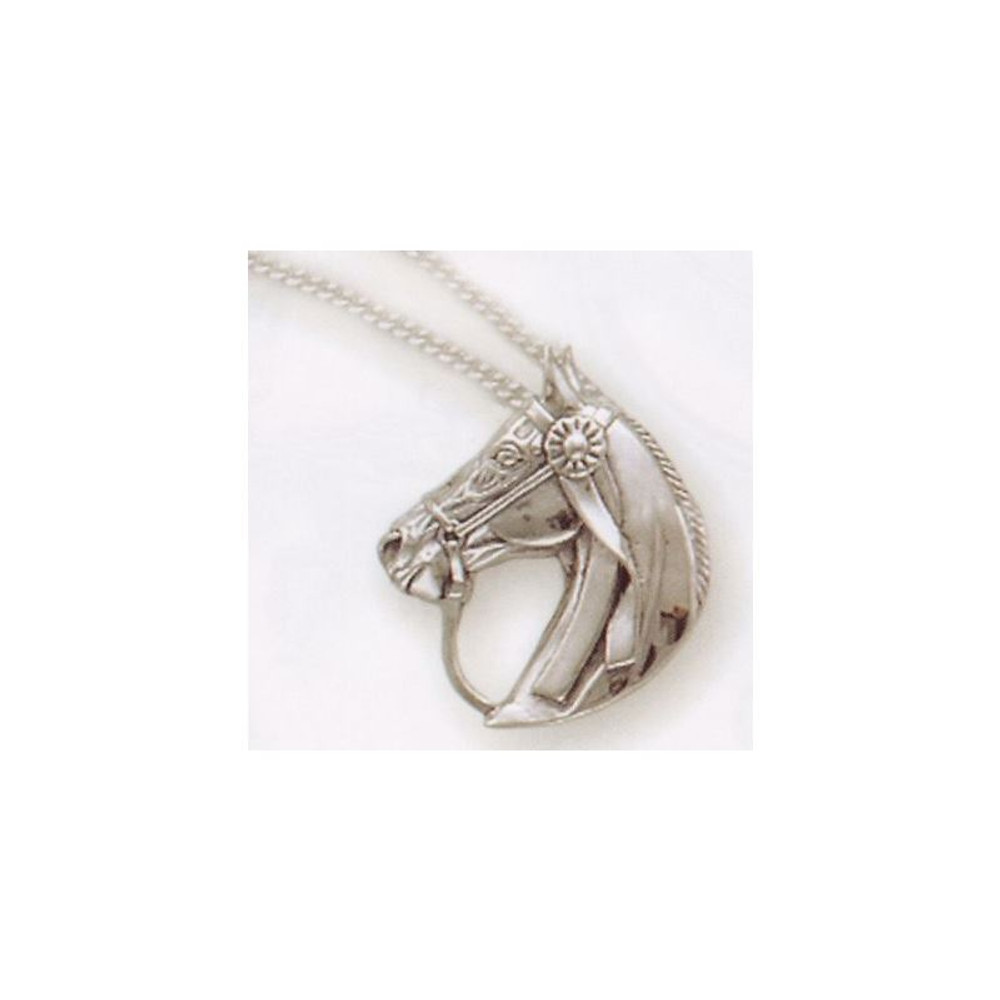 Saddlebred Horse Pendant Sterling Silver Necklace | Kabana Jewelry | Kp703