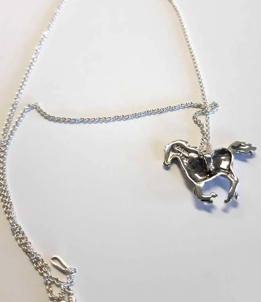 Galloping Horse Sterling Silver Pendant Necklace | Kabana Jewelry | Kp705
