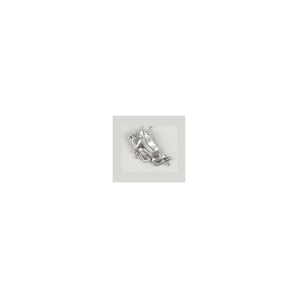 Frog Pendant Sterling Silver Necklace | Kabana Jewelry | KP727 -2
