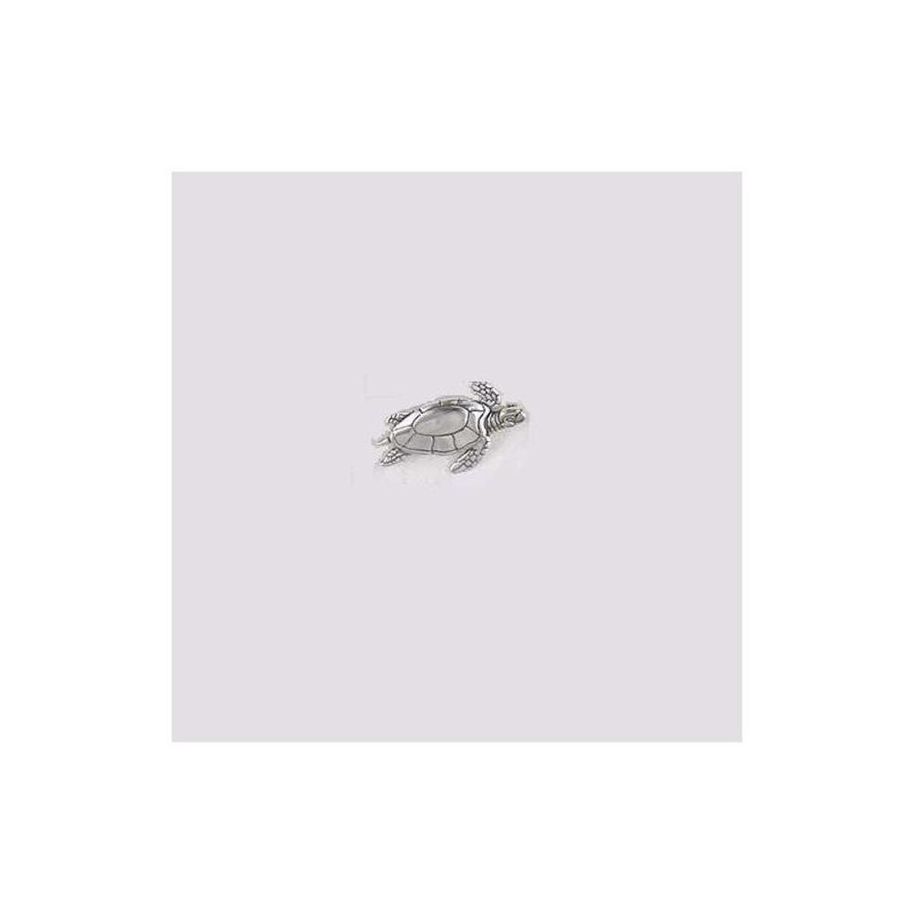 Swimming Sea Turtle Sterling Silver Pin | Kabana Jewelry | Kpn352