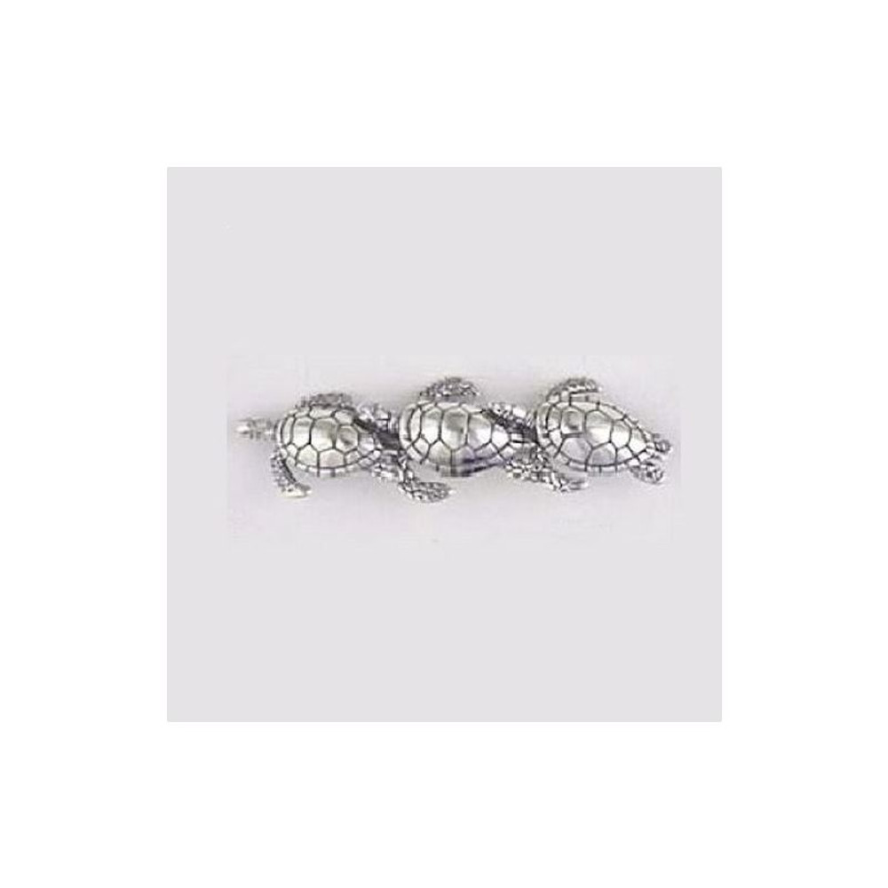 Turtles Sterling Silver Pin | Kabana Jewelry | KPN418
