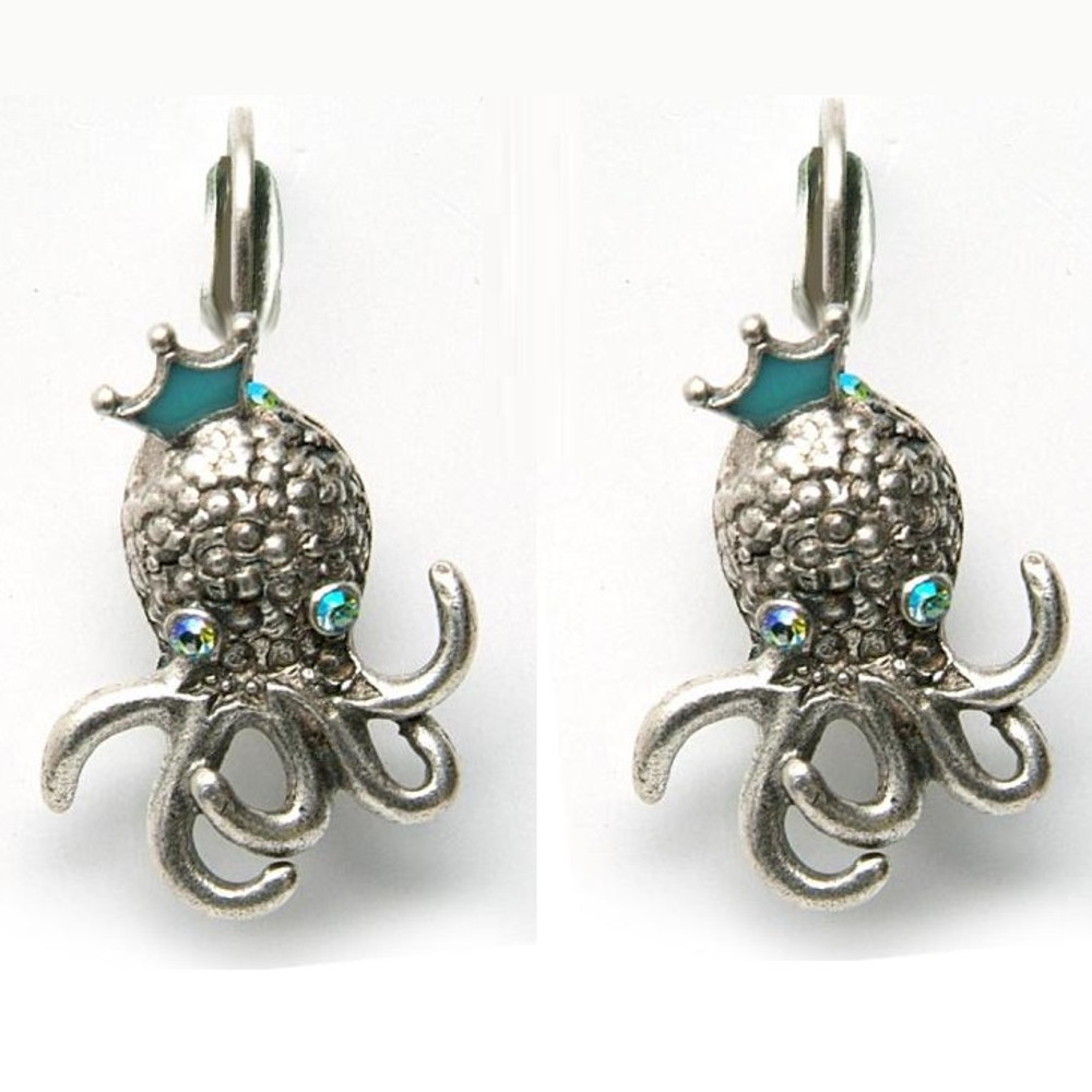 By the Sea Octopus Earrings | La Contessa Jewelry | LCER8561