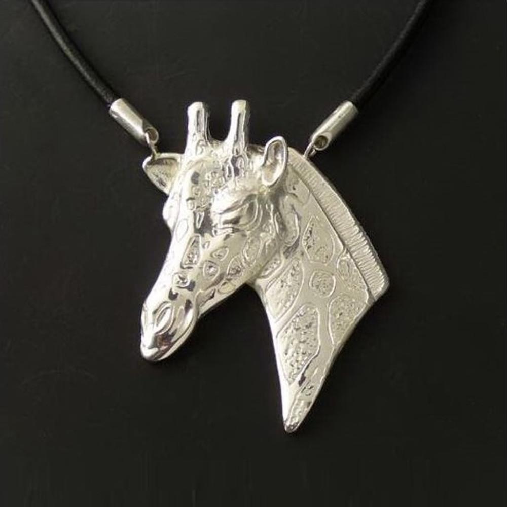 Giraffe Sterling Silver Necklace   Anisa Stewart Jewelry   ASJw1014