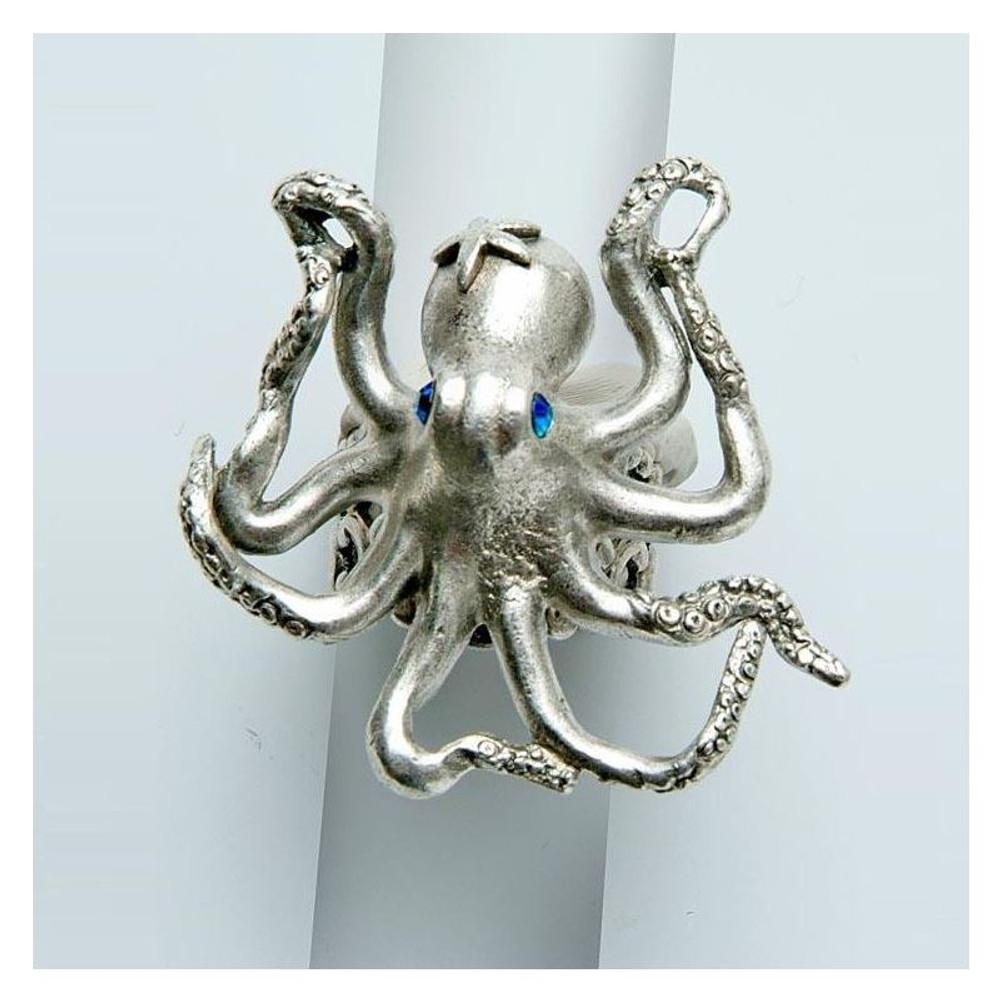 By the Sea Octopus Ring | La Contessa Jewelry | LCRG8560