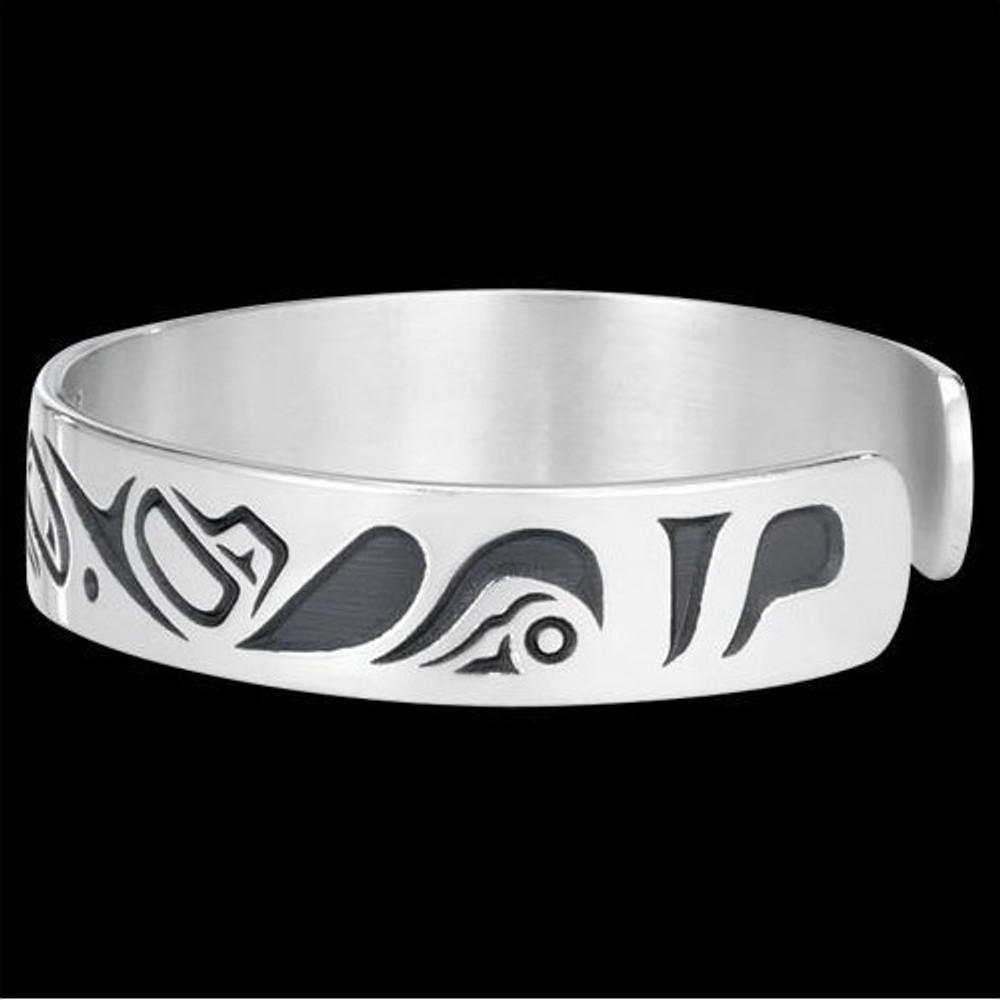 Lovebirds Sterling Silver Tribal Cuff Bracelet |  Metal Arts Group Jewelry | MAG10472-S -2