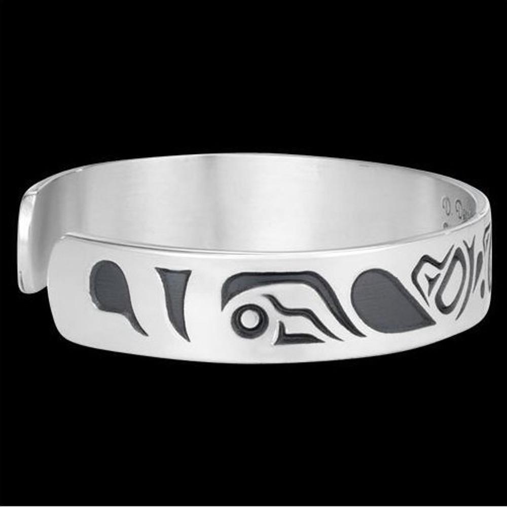 Lovebirds Sterling Silver Tribal Cuff Bracelet |  Metal Arts Group Jewelry | MAG10472-S -3