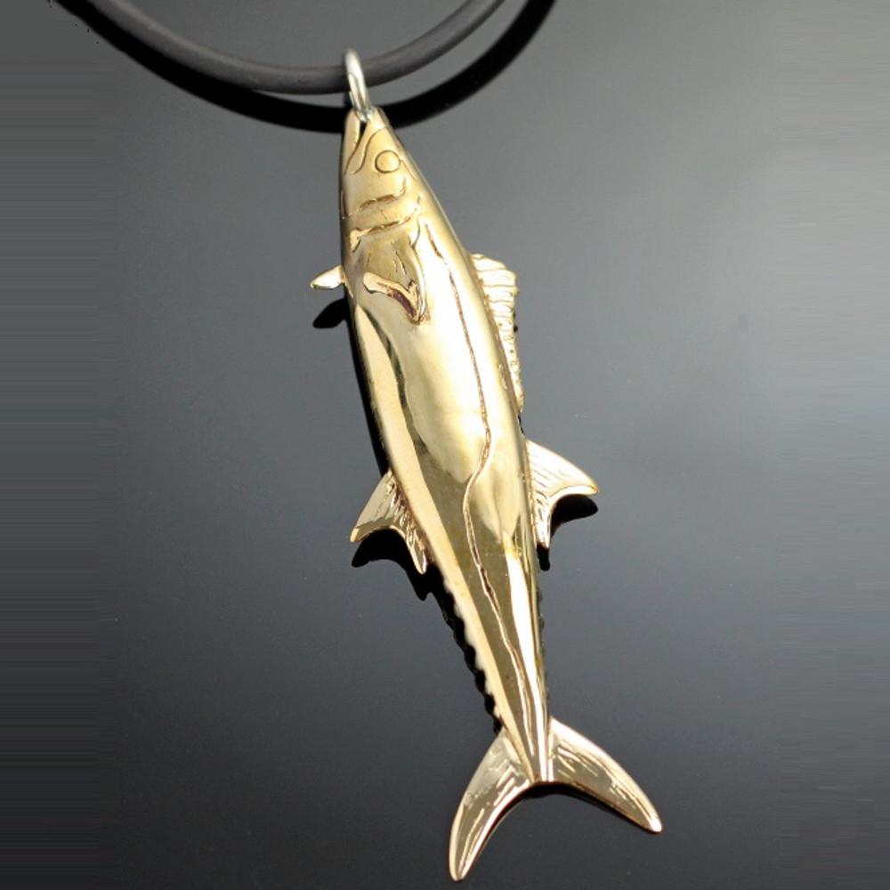 Kingfish Bronze Pendant Necklace | Anisa Stewart Jewelry | ASJbrs1005