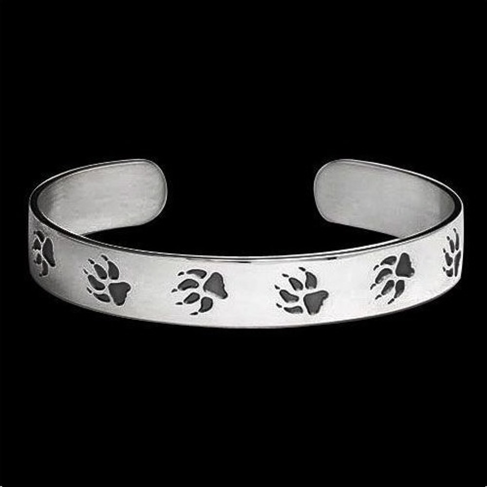 Wolf Trax Sterling Silver Bracelet |  Metal Arts Group Jewelry | MAG10612-S