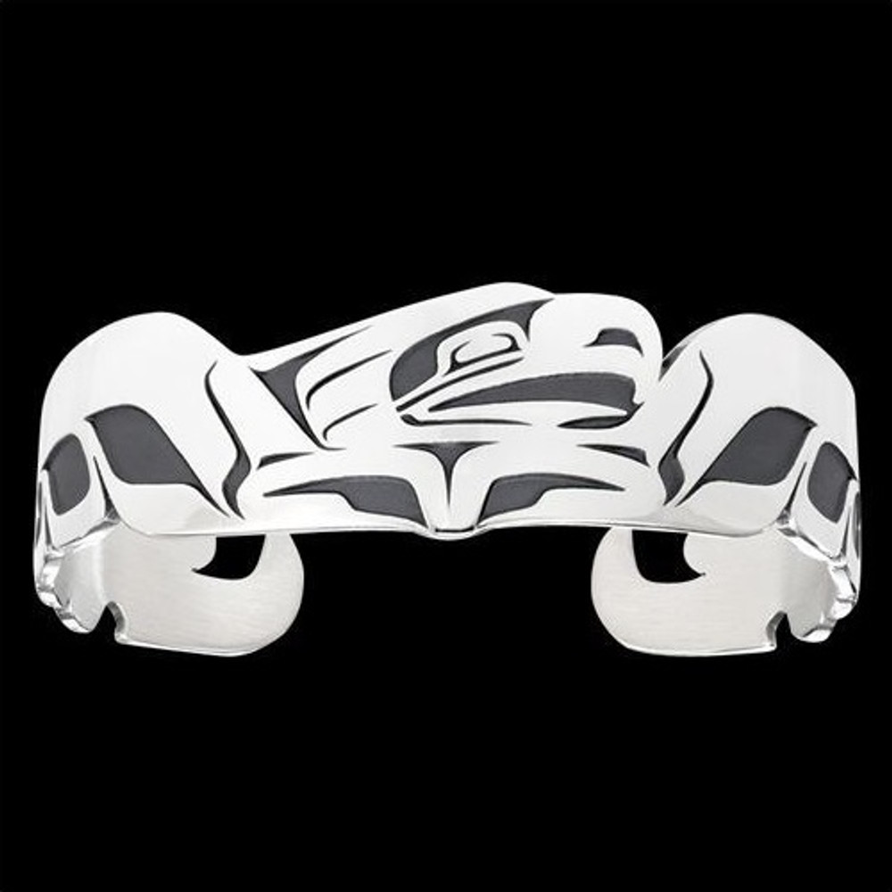 Eagle Spread Tribal Cuff Bracelet Silver |  Metal Arts Group Jewelry | MAG11406-S