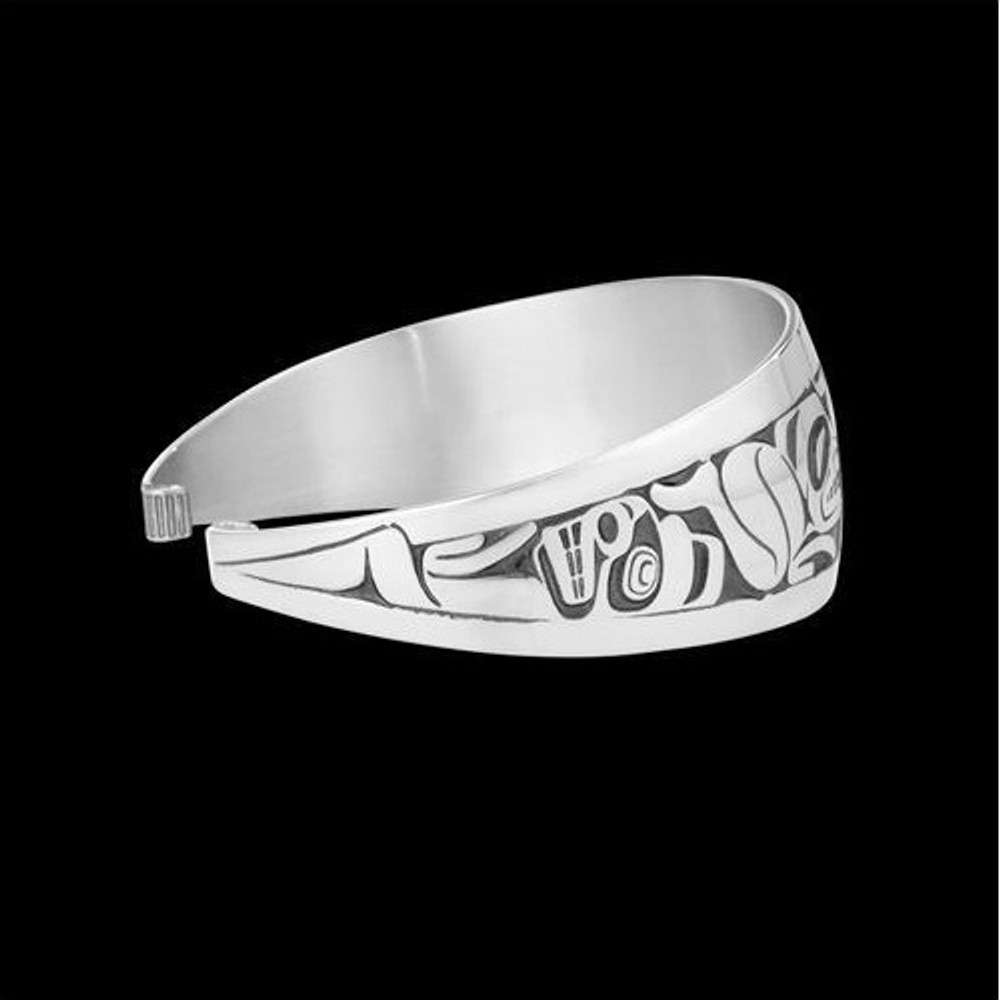 Emerging Mankind Tribal Cuff Bracelet Silver |  Metal Arts Group Jewelry | MAG11447-S -2