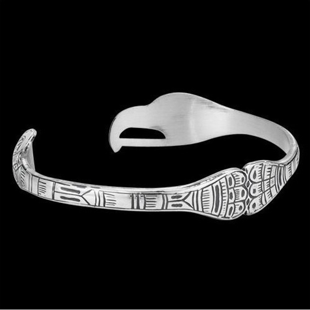 Eagle-Raven Lovebirds Silver Tribal Cuff Bracelet |  Metal Arts Group Jewelry | MAG12823-S -2