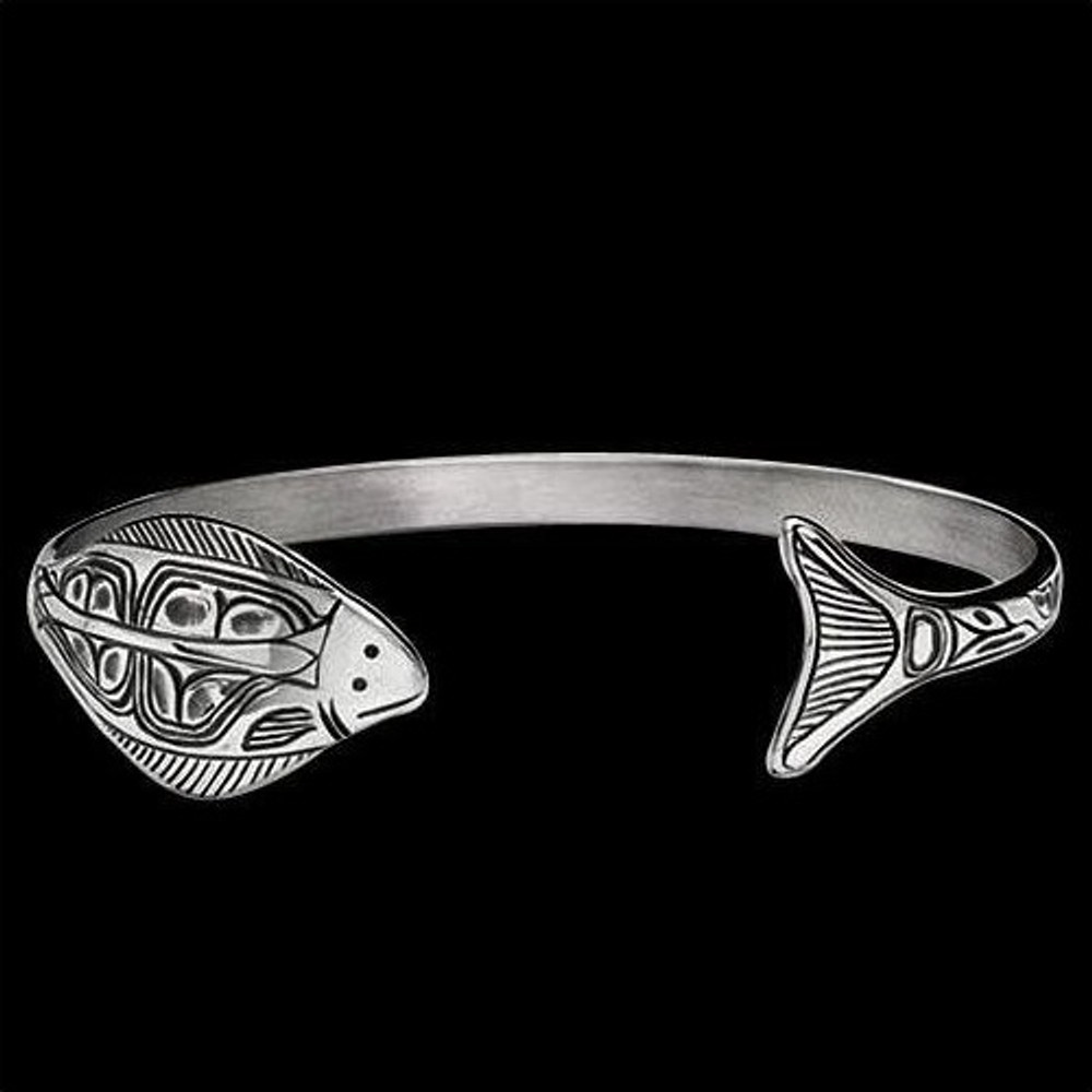 Halibut Sterling Silver Wrap Cuff Bracelet |  Metal Arts Group Jewelry | MAG12832-S