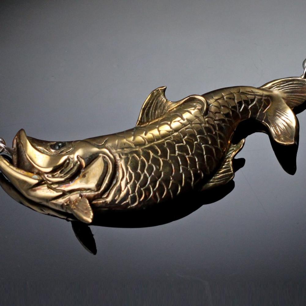 Tarpon Bronze Pendant Necklace | Anisa Stewart Jewelry | ASJbrs1013 -2